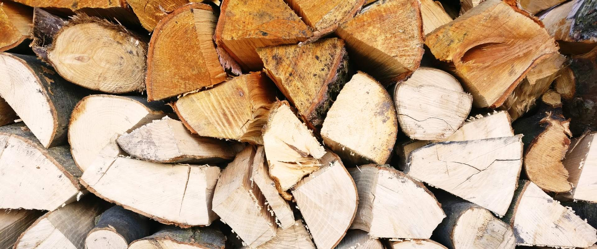 A pile of fire wood.